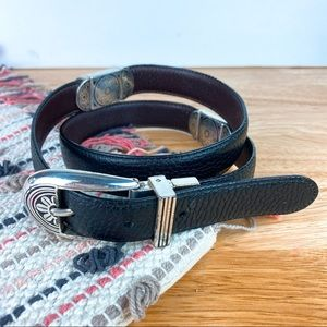 Brighton Black and Brown Reversible Belt